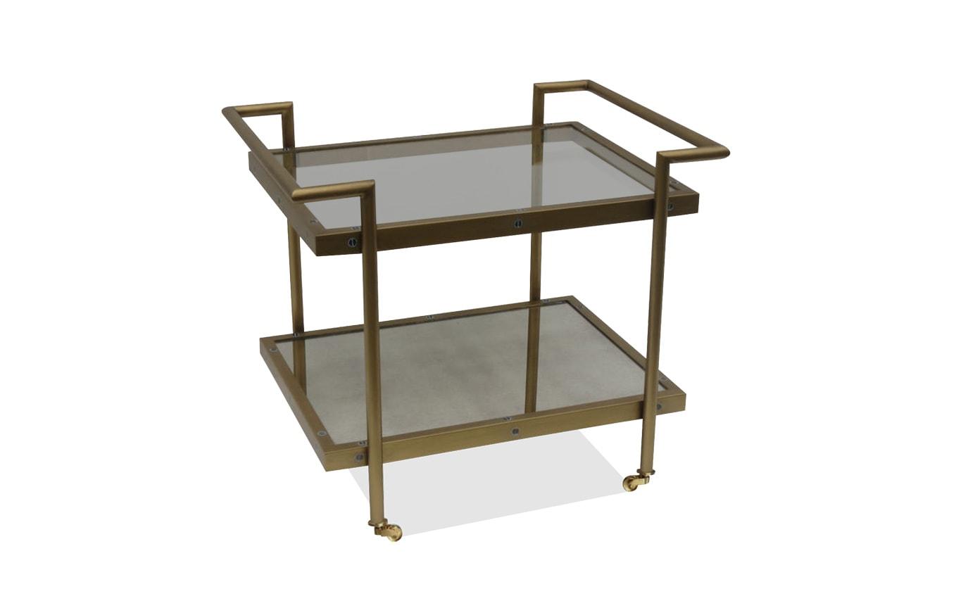 Manhattan Brass Bar Cart