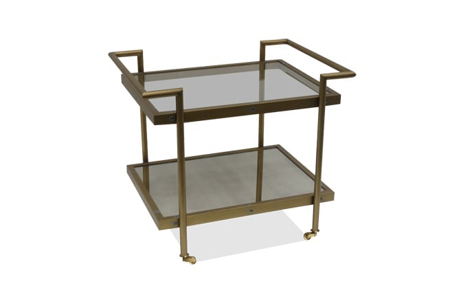 Manhattan Brass Bar Cart