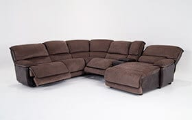 Dawson Brown 6 Piece Power Reclining Left Arm Facing Sectional