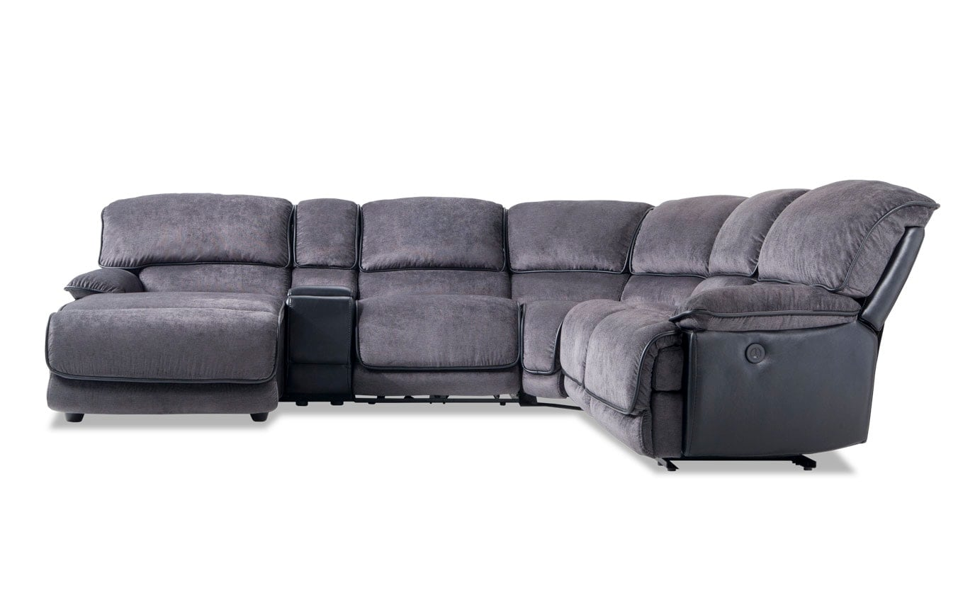 Dawson 6 Piece Power Reclining Right Arm Facing Sectional