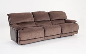 Dawson Brown Dual Power Reclining Sofa