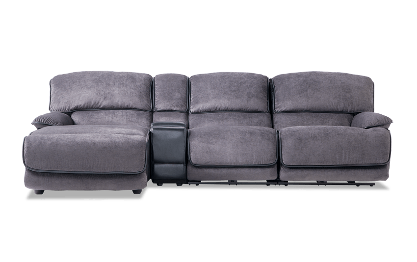 Dawson Power 4 Piece Right Arm Facing Console Sectional