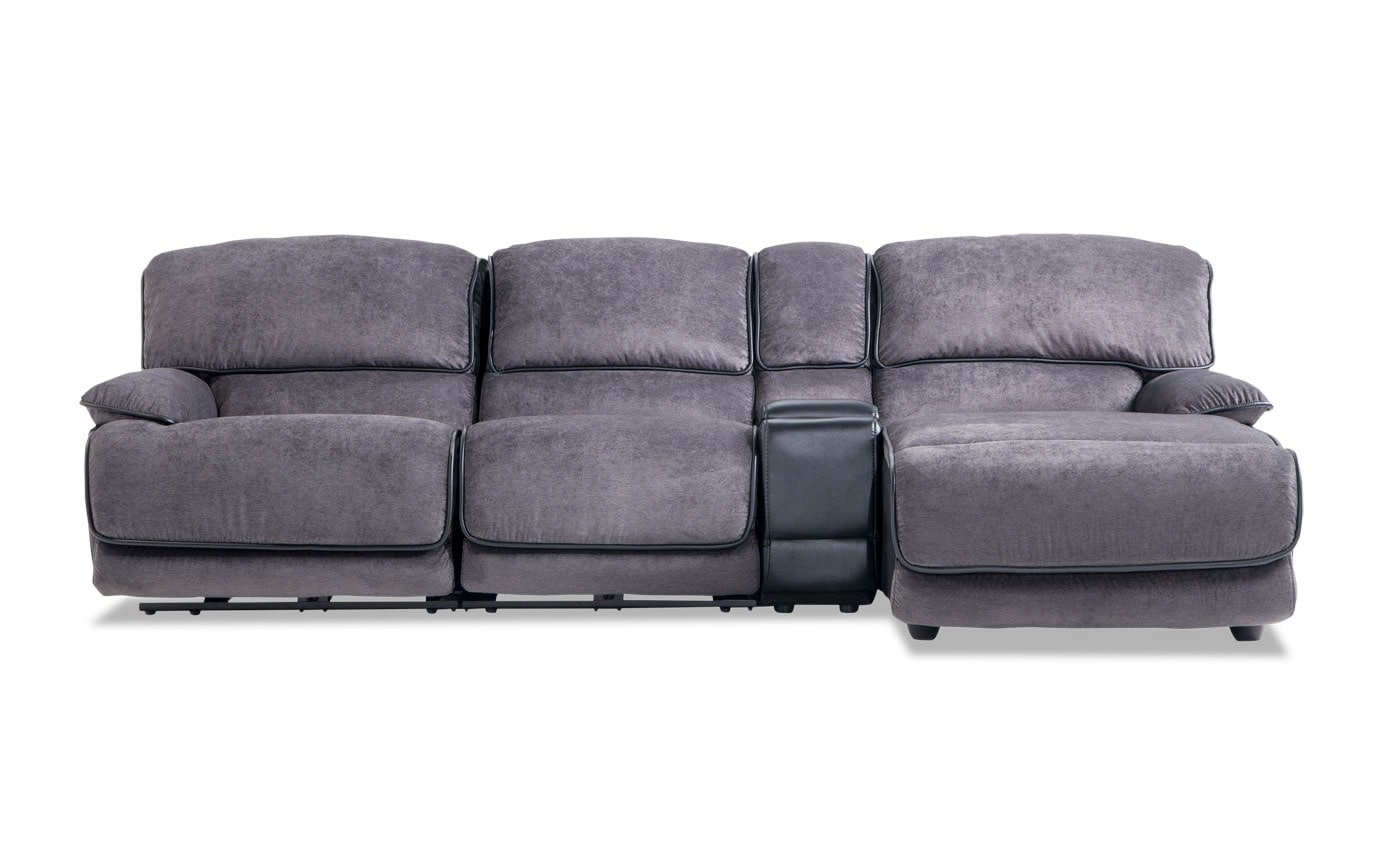 Dawson 4 Piece Power Reclining Left Arm Facing Console Sectional