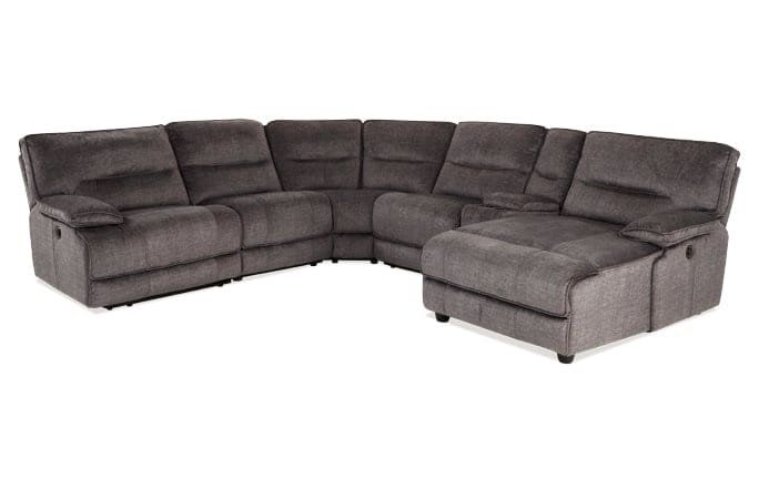 Gentil Pacifica Power Reclining 6 Piece Left Arm Facing Sectional ...
