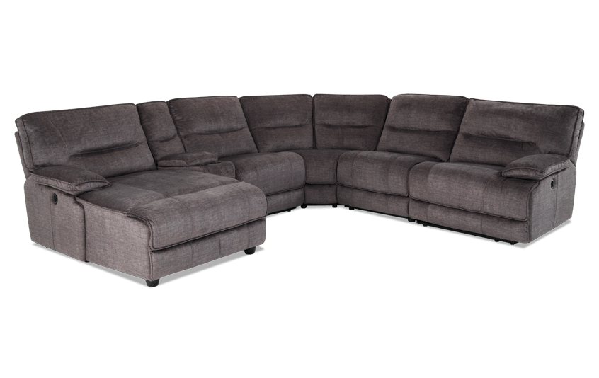Pacifica Gray 6 Piece Power Reclining Right Arm Facing Sectional