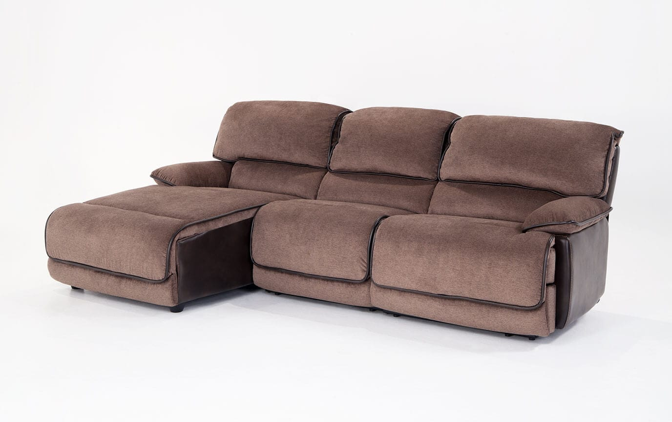 Dawson Brown 3 Piece Power Reclining Right Arm Facing Sectional