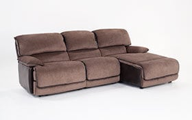 Dawson Brown 3 Piece Power Reclining Left Arm Facing Sectional