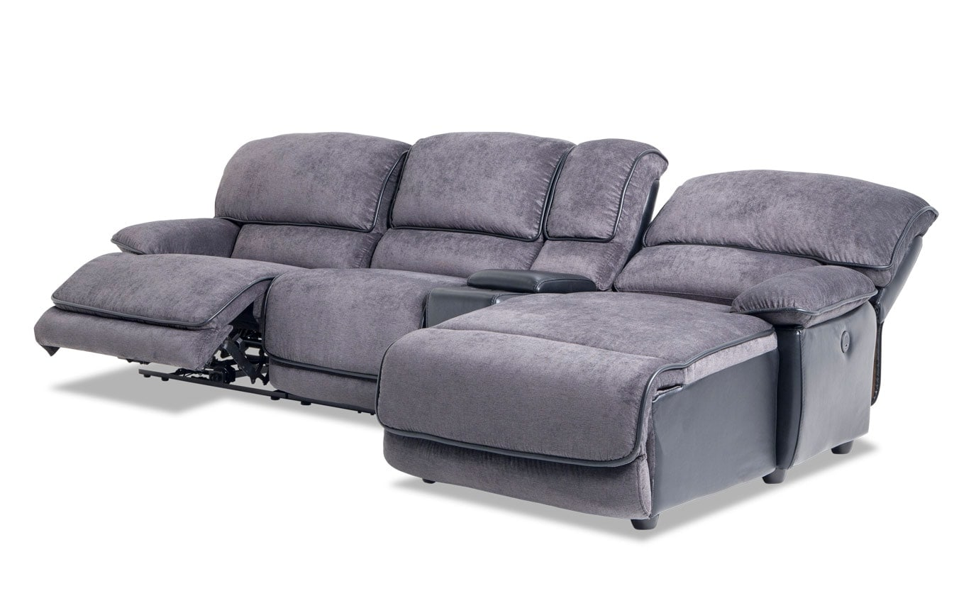 Dawson Power 4 Piece Left Arm Facing Console Sectional