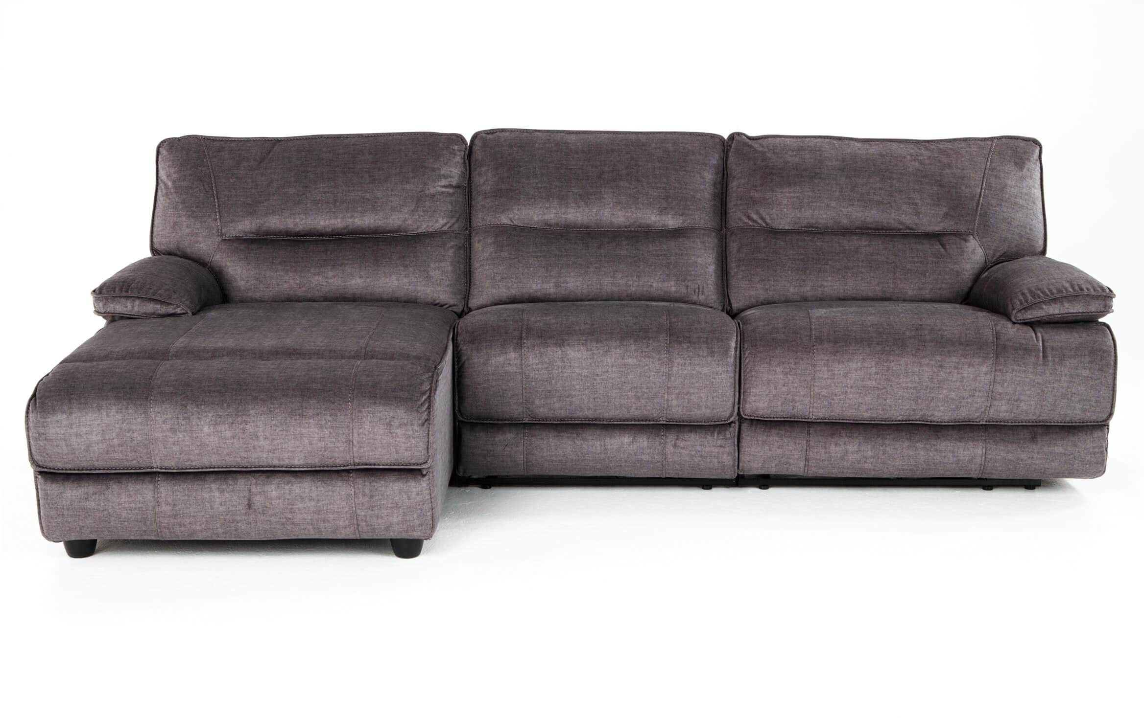 Picture of: Pacifica Gray 3 Piece Power Reclining Right Arm Facing Sectional Bobs Com