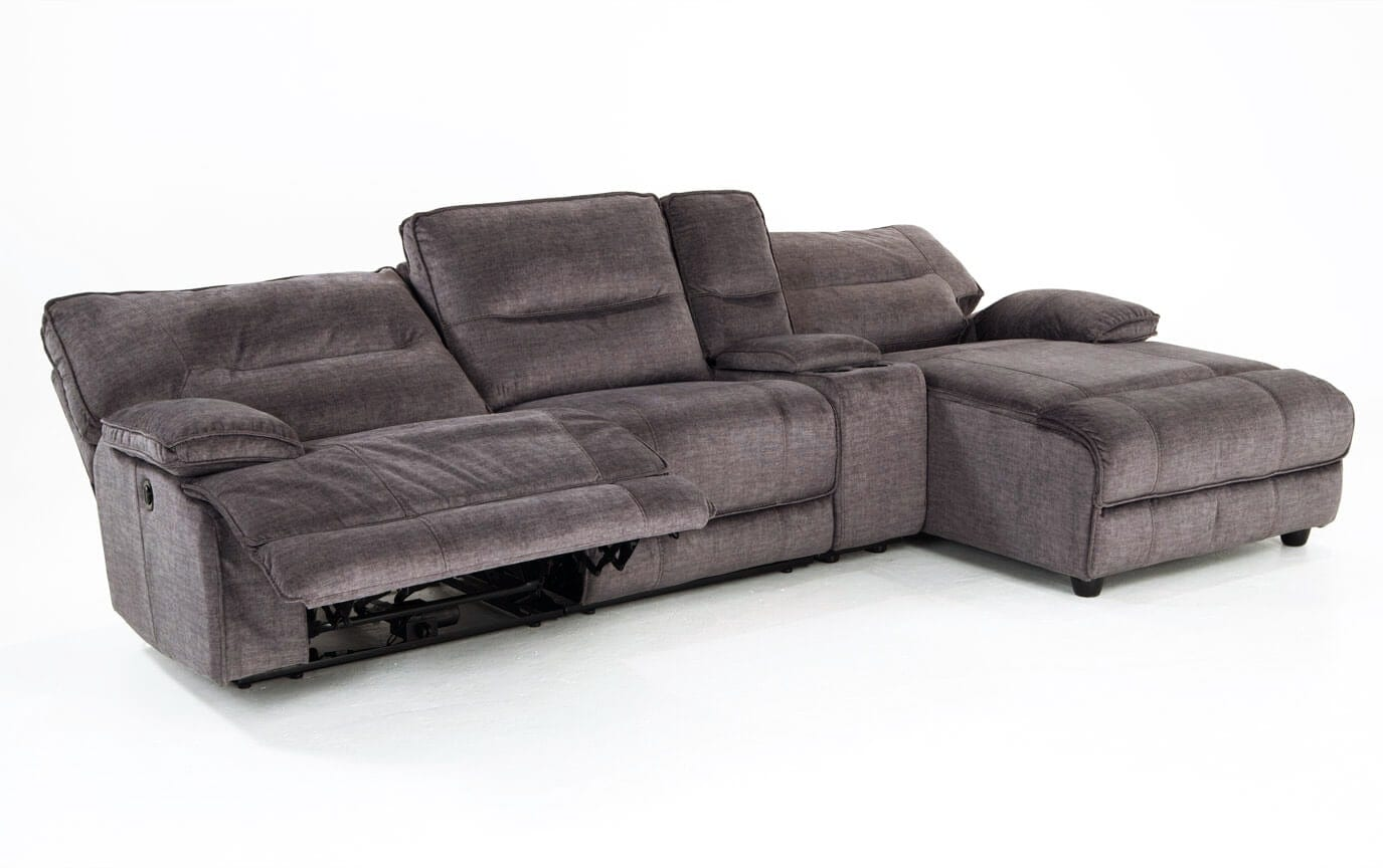 Pacifica Power Reclining 4 Piece Left Arm Facing Sectional