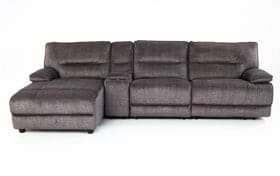 Pacifica Gray 4 Piece Power Reclining Right Arm Facing Sectional