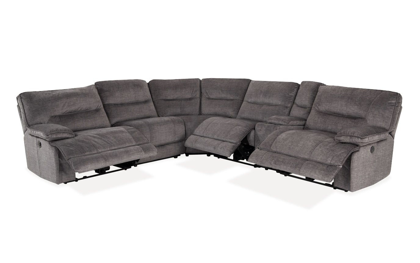 Pacifica Gray 6 Piece Power Reclining Left Arm Facing Sectional