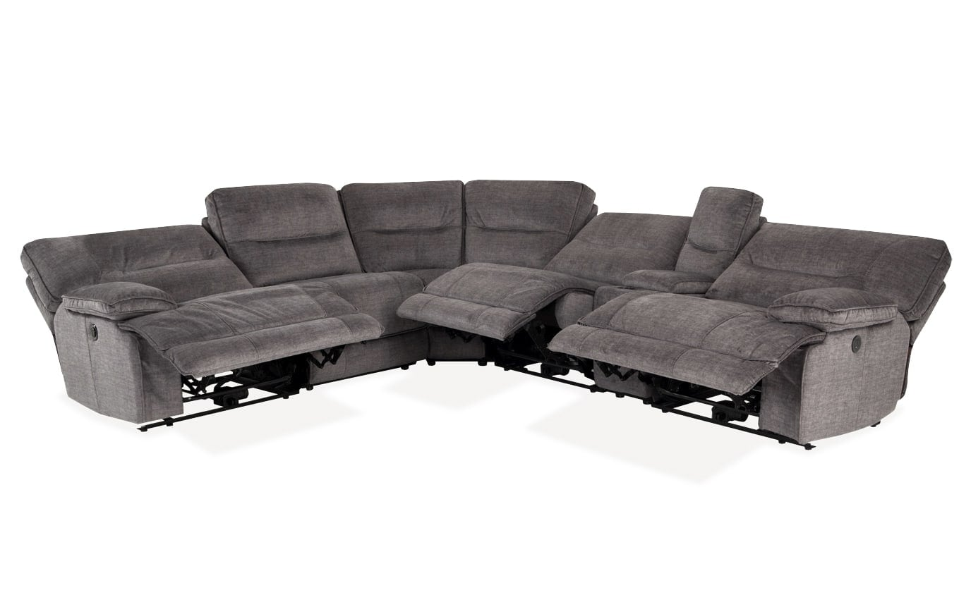 Pacifica 6 Piece Power Reclining Left Arm Facing Sectional