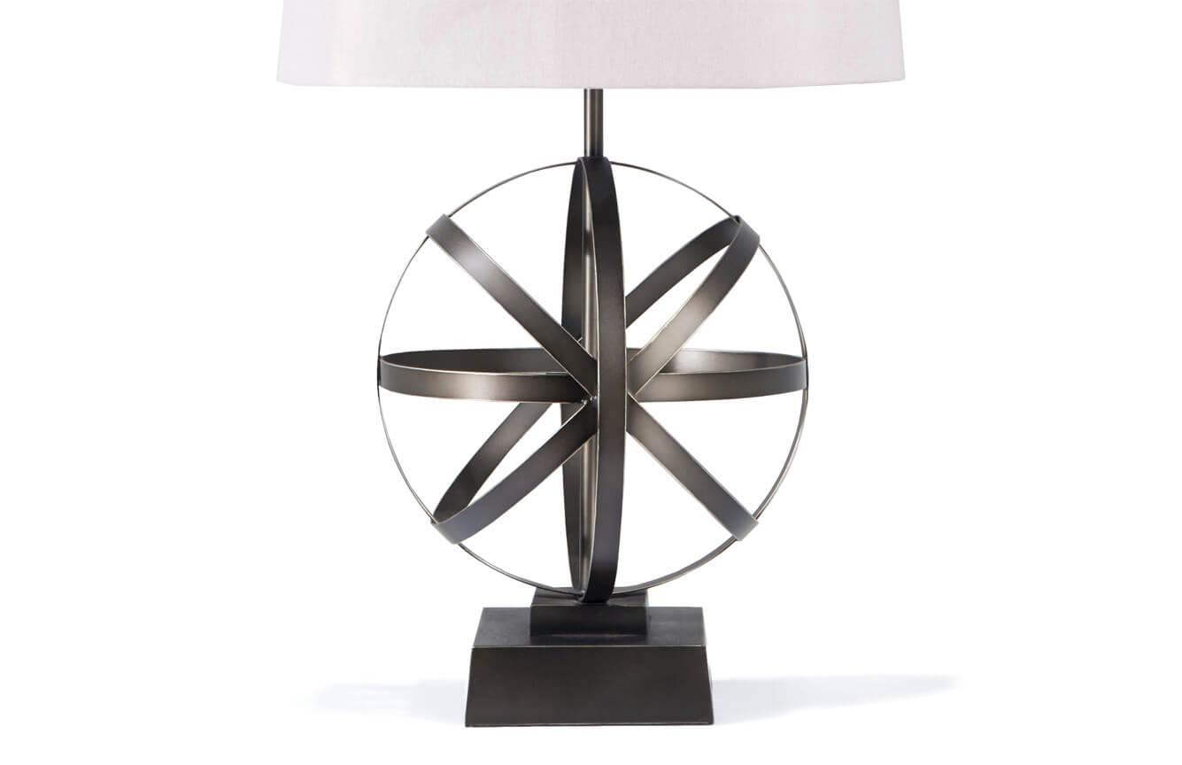 Set of 2 Axis Metal Lamps