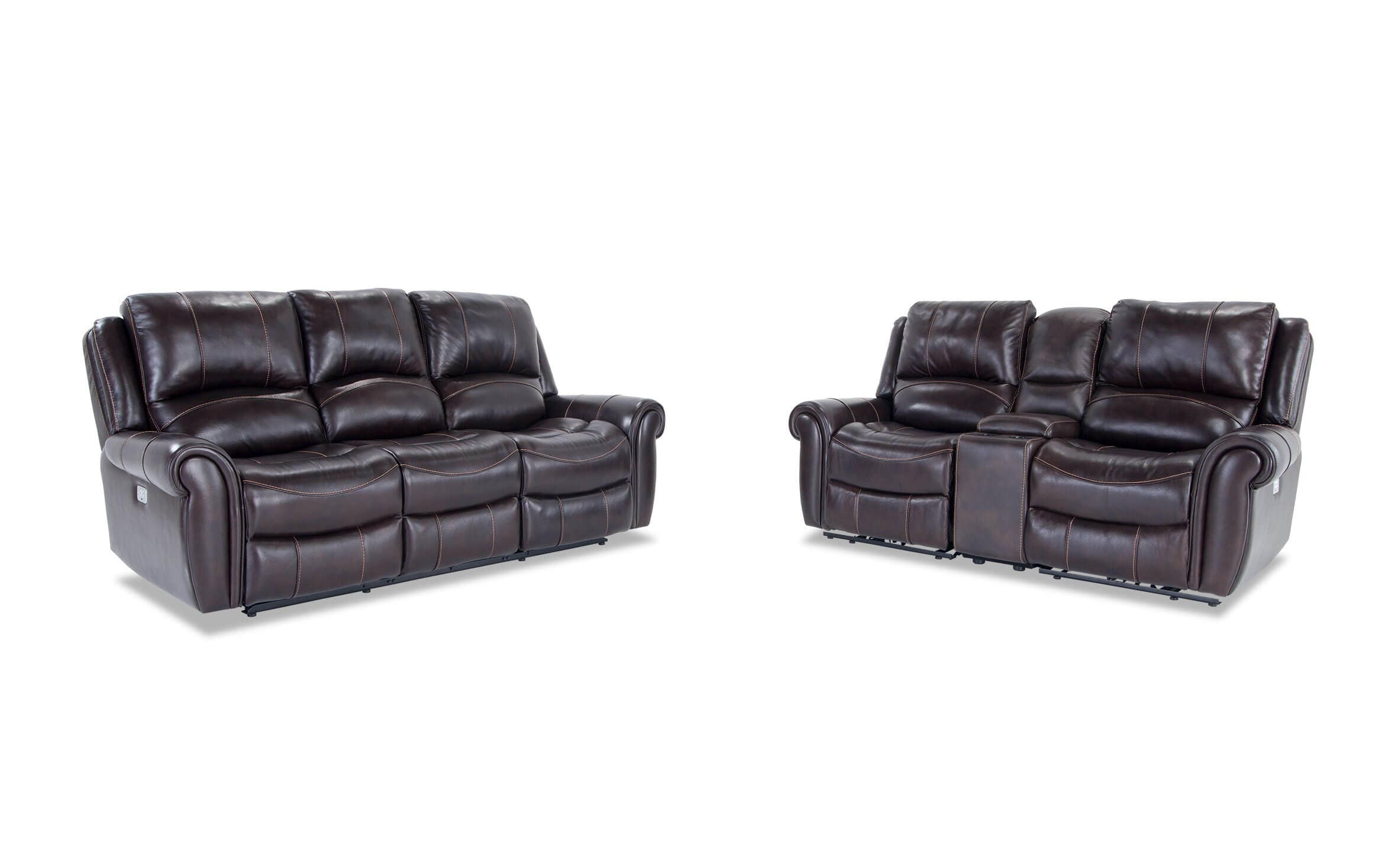 Bennett Leather Reclining Sofa