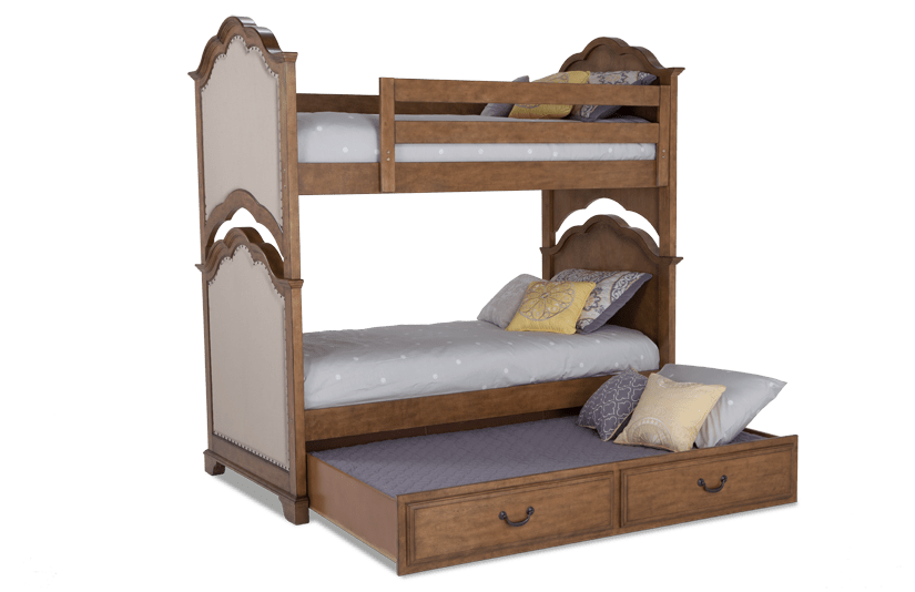 Paige Twin Bunk Bed With Trundle Outlet Bob S Discount Furniture