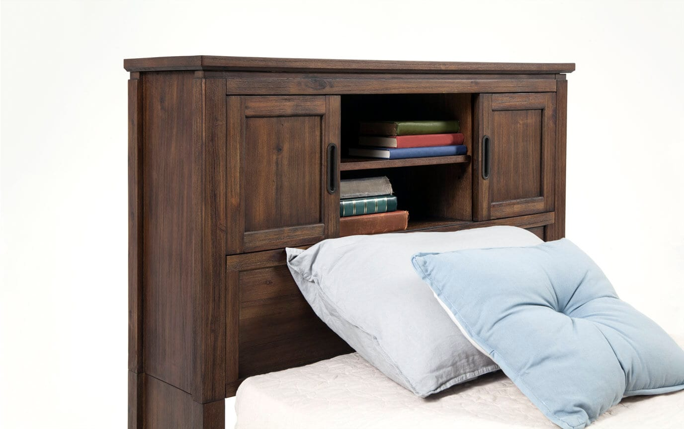 Chadwick Full Rustic Bookcase Bed