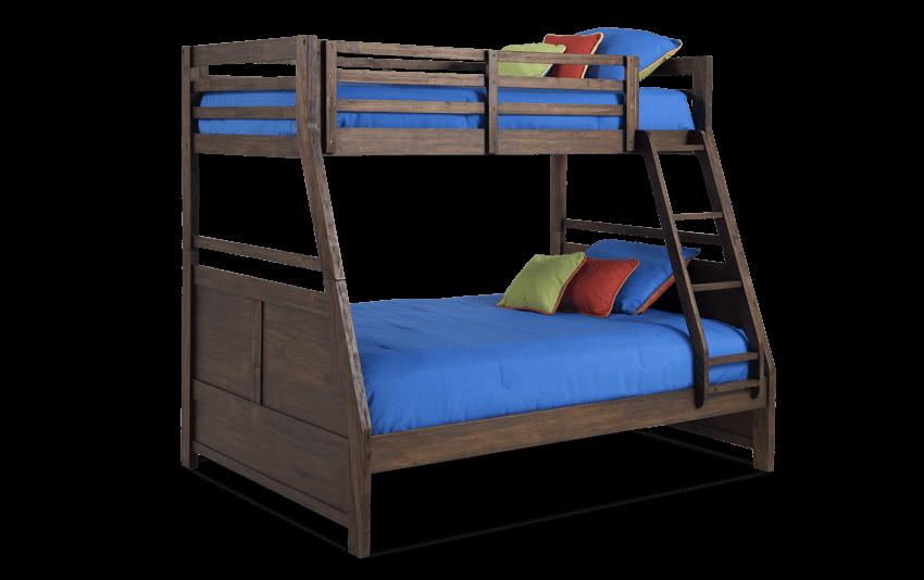 Chadwick Rustic Twin/Full Wire Brush Bunk Bed