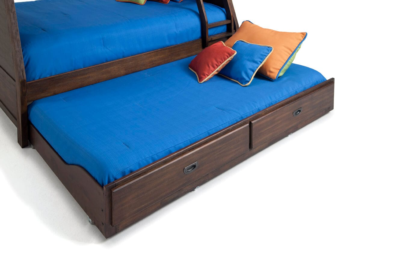 Chadwick Twin/Full Rustic Bunk Bed with Trundle