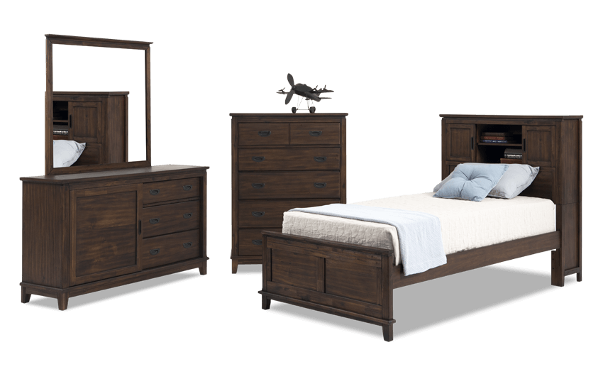 Chadwick Bookcase Bedroom Set | Bob\'s Discount Furniture