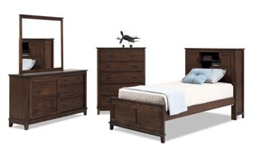Chadwick Full Rustic Bookcase Bedroom Set