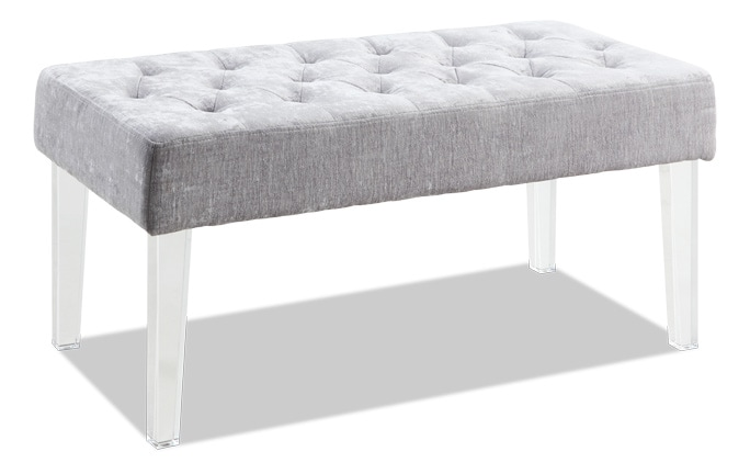 Platinum Acrylic Leg Bench