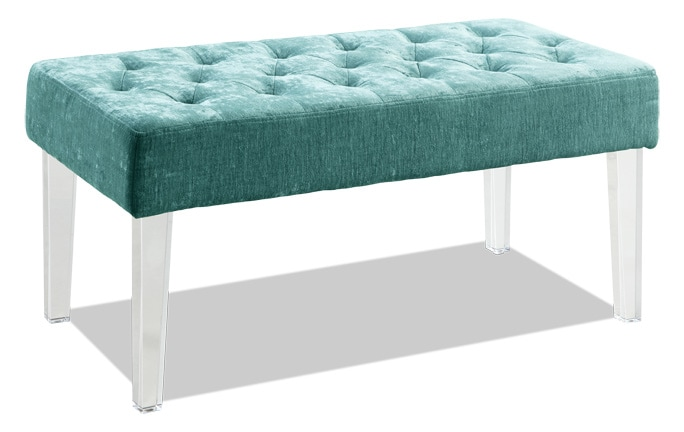 Teal Acrylic Leg Bench