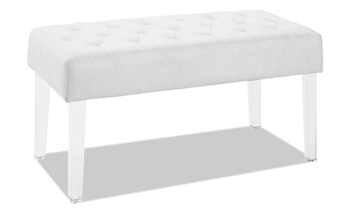 Glam Acrylic Leg Bench