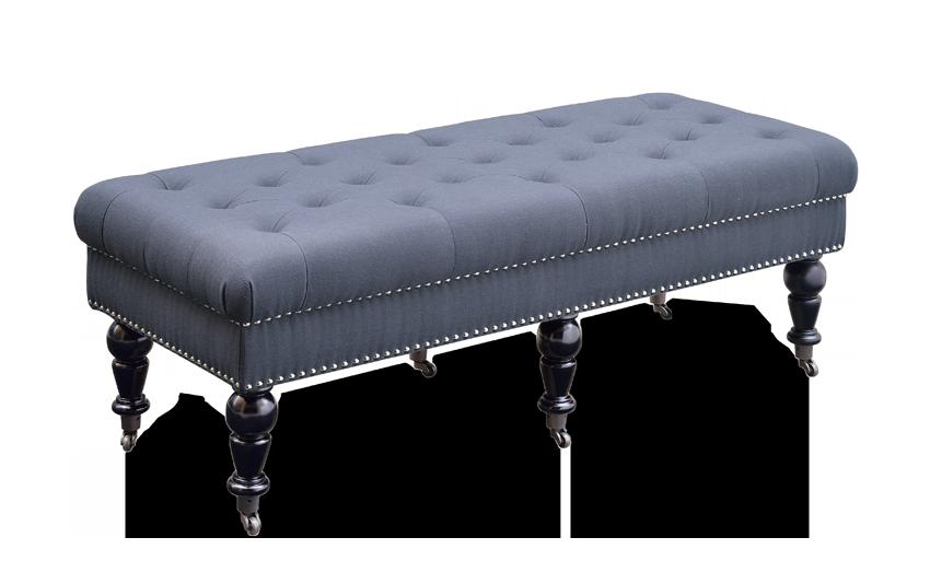 Delfina Charcoal Bench 50