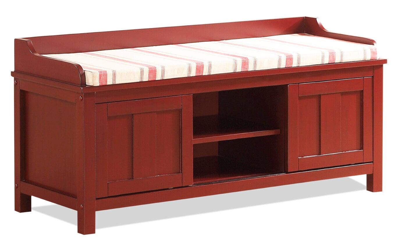 Red Storage Bench