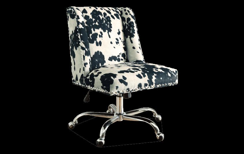 Sofia Black & Chrome Office Chair