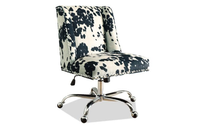 Sofia Black & Chrome Office Chair