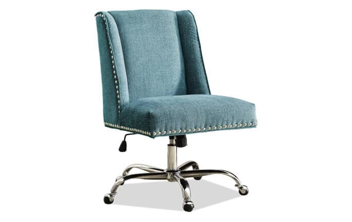 office chairs bob s discount furniture rh mybobs com Office Chair Aqua Teal Desk Chair