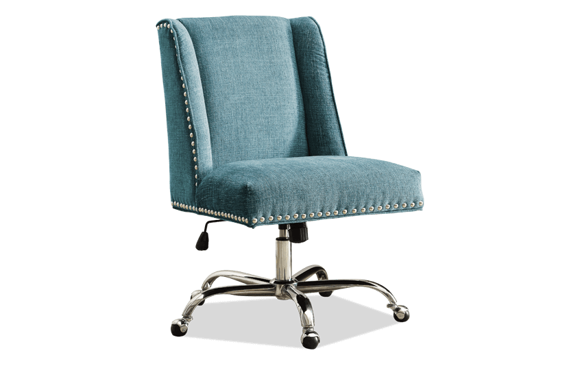 Sofia Aqua & Chrome Office Chair