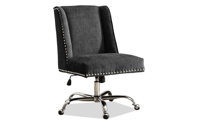 Sofia Charcoal & Chrome Office Chair