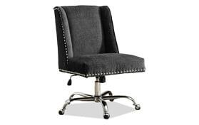 Sofia Charcoal & Chrome Office Chair