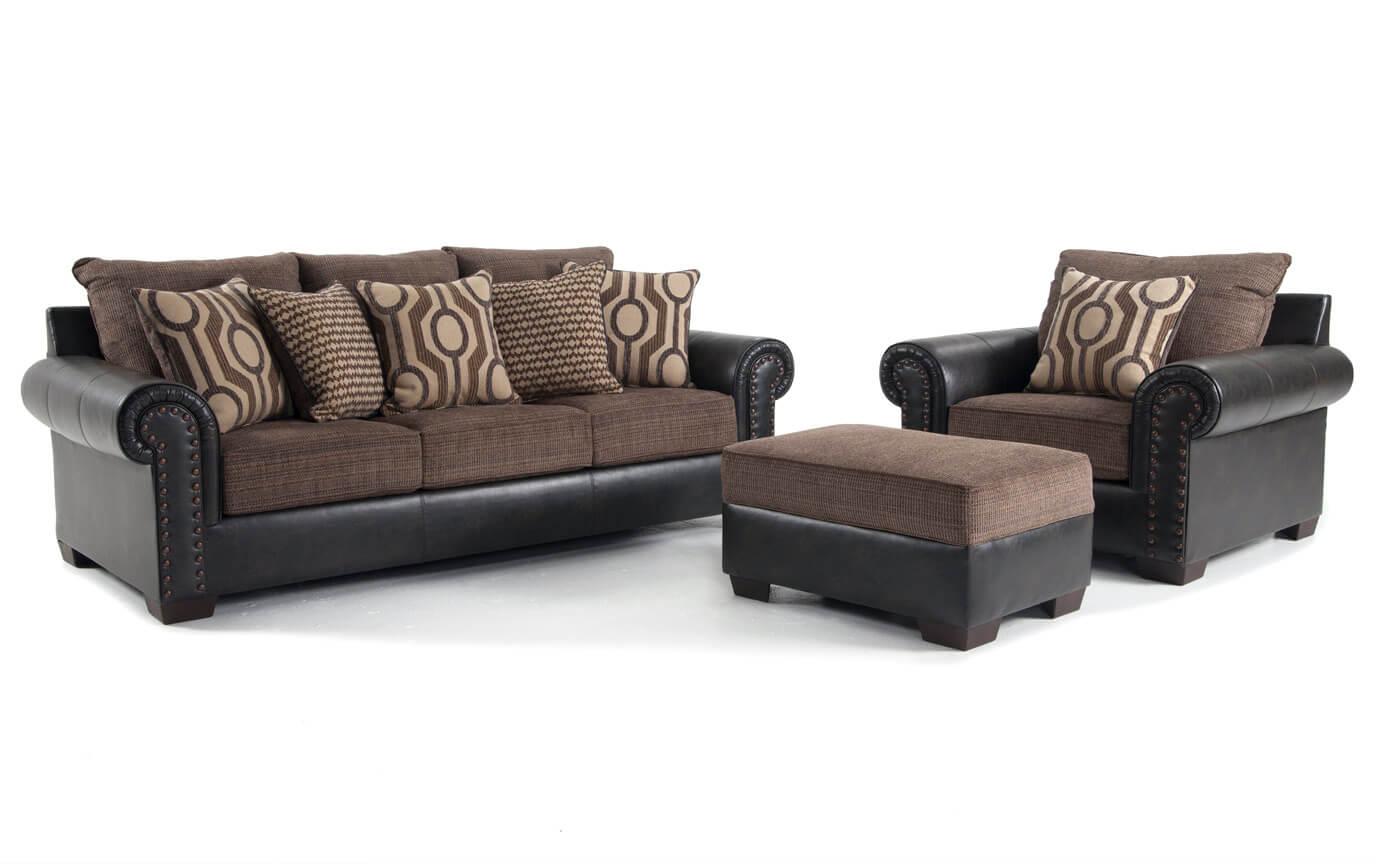 Wyatt Sofa, Chair & Storage Ottoman