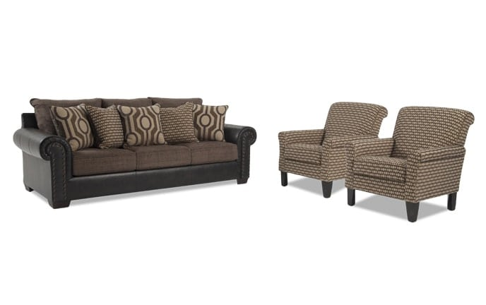 Wyatt Sofa & 2 Accent Chairs