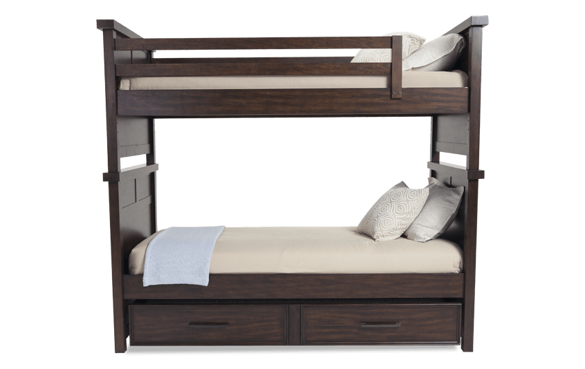 Hudson Youth Twin Bunk Bed With Trundle | Bob\'s Discount Furniture