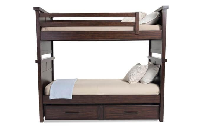 Hudson Youth Twin Bunk Bed with Trundle