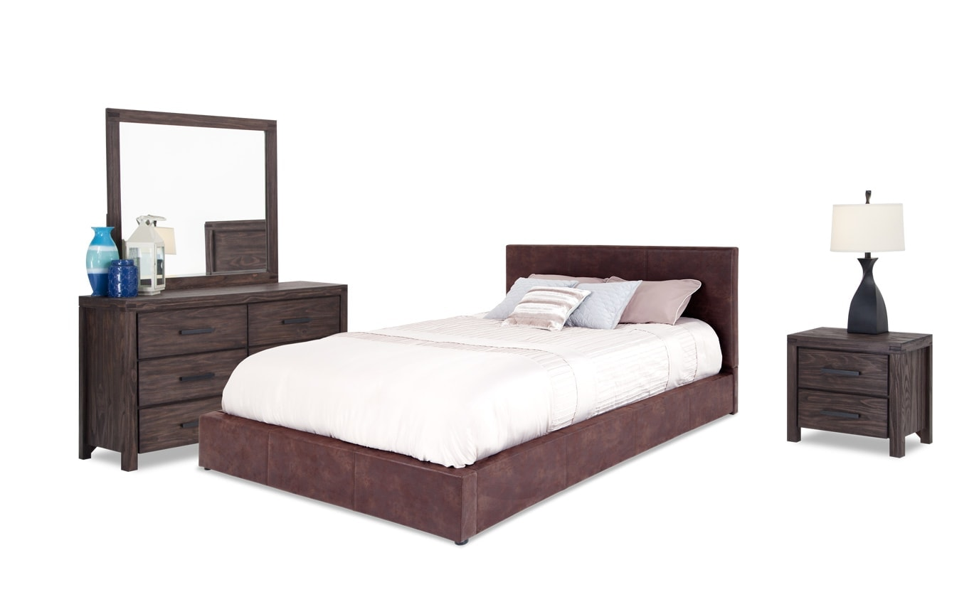 Impressive Upholstered Bedroom Set Model