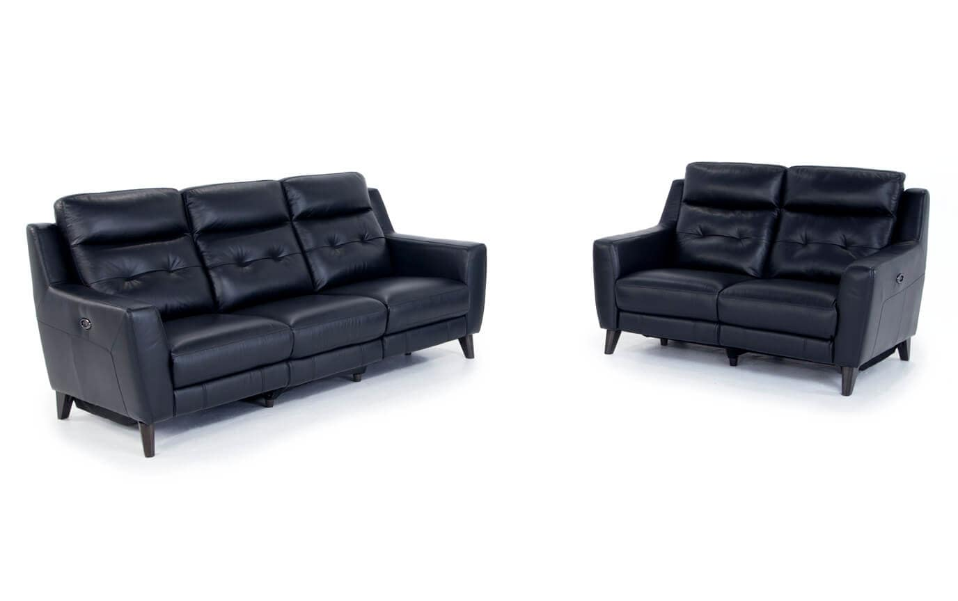 Stratus Leather Power Reclining Sofa & Power Reclining Loveseat