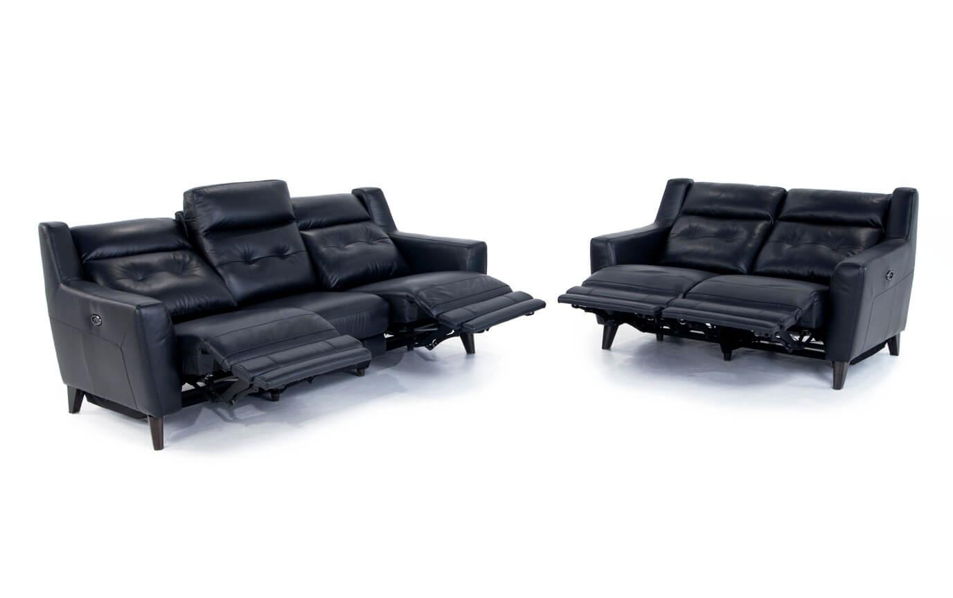 Stratus Leather Power Reclining Sofa & Power Reclining Loveseat ...