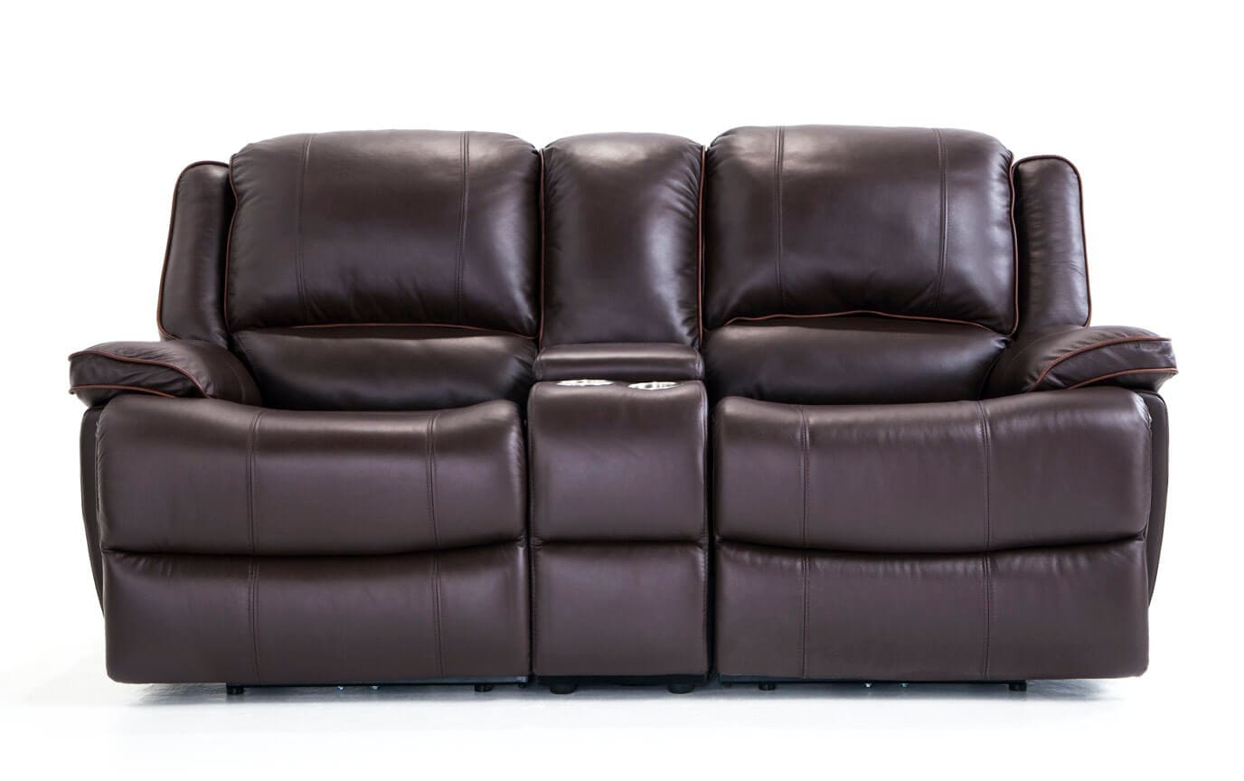 a loveseat leather details console merchandise reclining recline steinhafels product power greyson