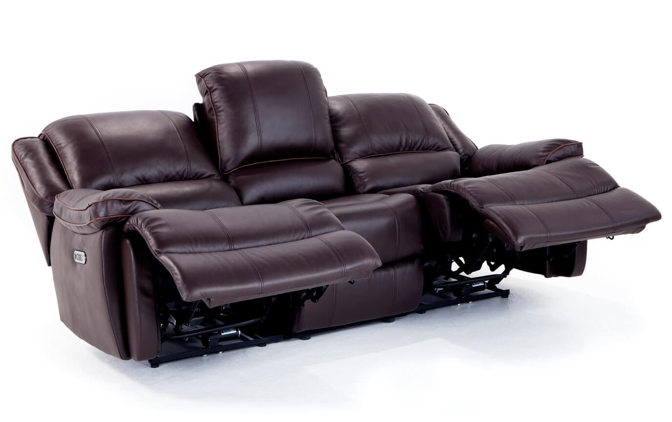 Phoenix Leather Power Reclining Sofa & Loveseat