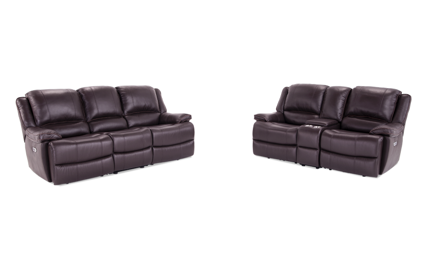 Phoenix Leather Reclining Sofa Loveseat