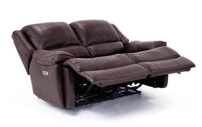 Phoenix Leather Power Reclining Loveseat