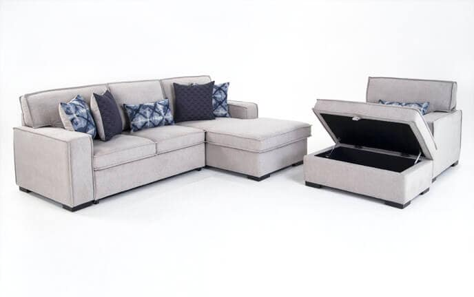 Playscape Left Arm Facing Sectional with Chair & Ottoman