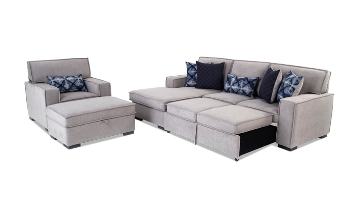 Playscape Right Arm Facing Sectional with Accent Chair & Ottoman