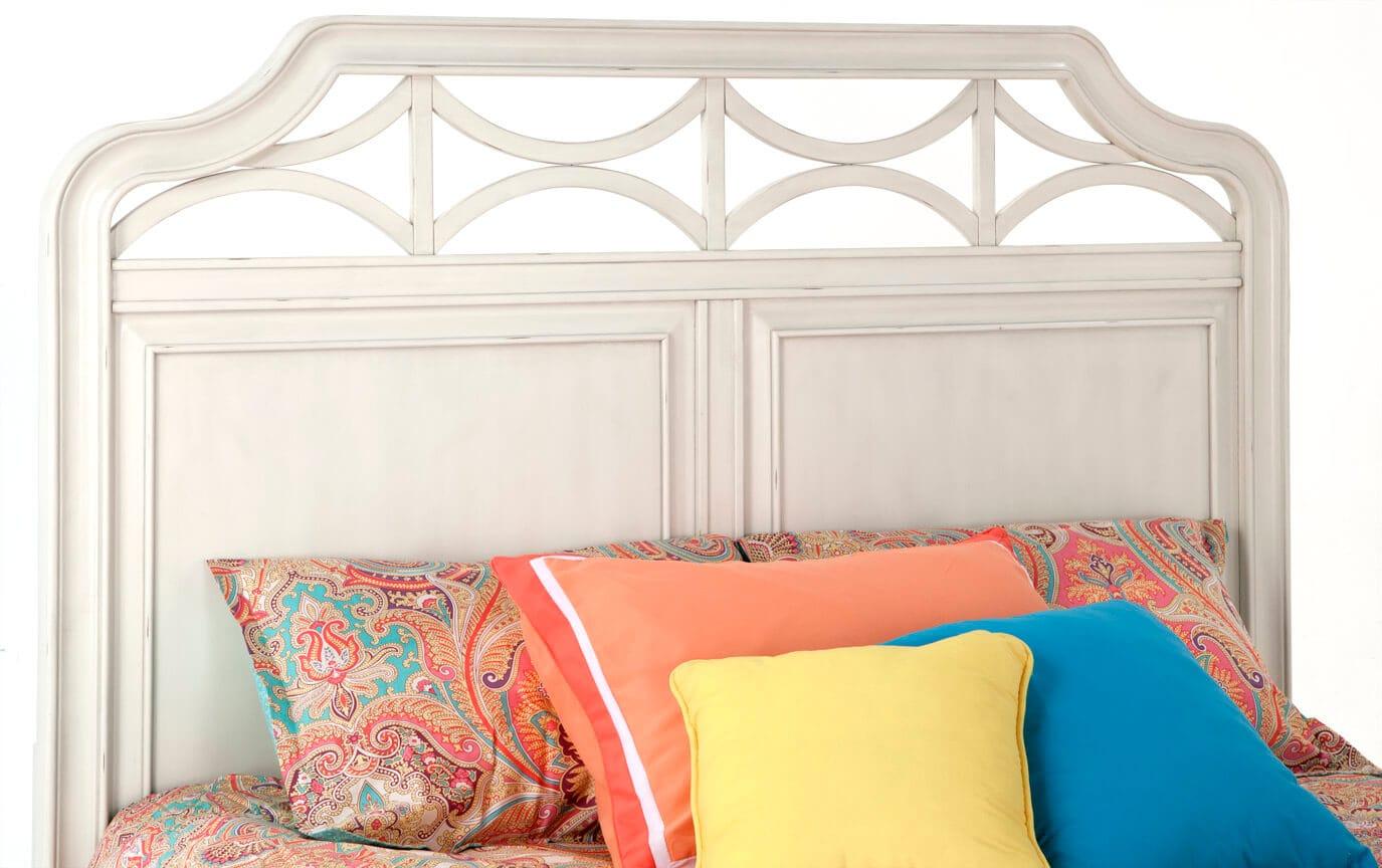Mystic Bay Queen White Storage Bed